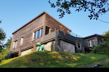 Jolie maison d'architecte ossature bois, vue super